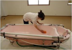 訪問入浴介護手順 用具の片付け